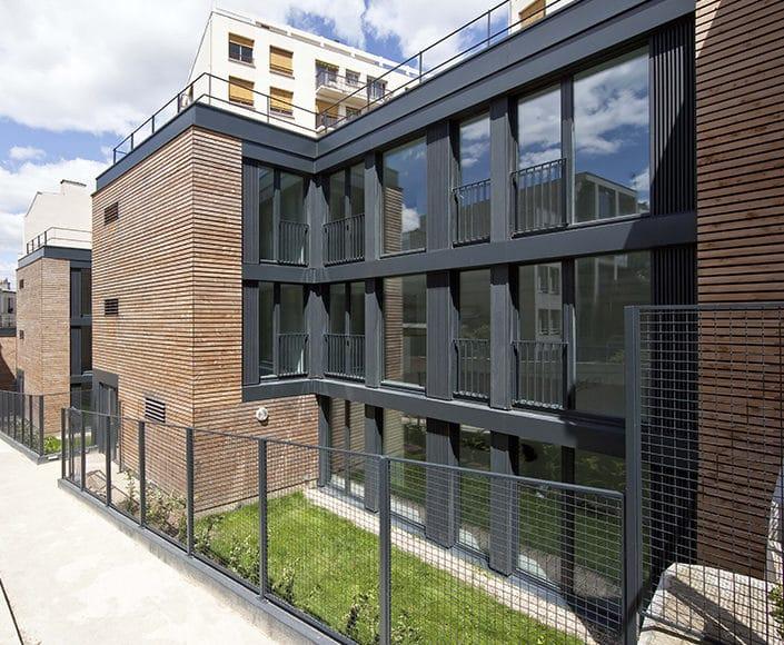 Projet d archi l envol e 8 logements sociaux passifs for Projet architecture paris