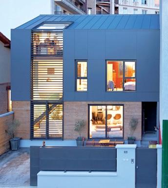 maison de ville paris architecture bois magazine maisons bois construction. Black Bedroom Furniture Sets. Home Design Ideas