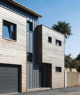 Du bois en ville architecture bois magazine maisons - Maison de ville architecture contemporaine ...