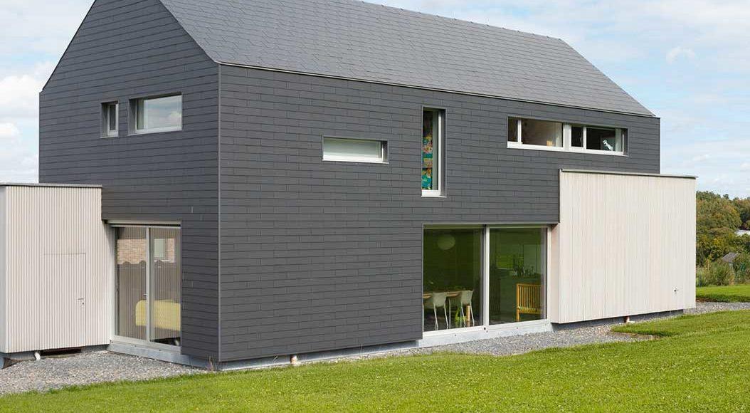 bardage en fibres et ciment 4 5 architecture bois magazine maisons bois construction. Black Bedroom Furniture Sets. Home Design Ideas