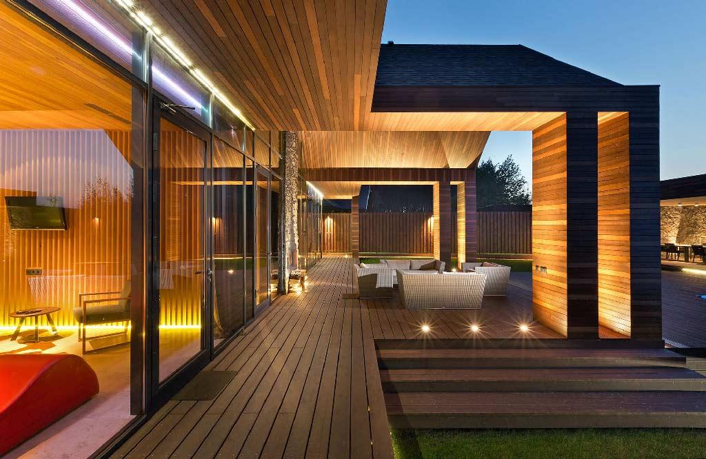 Chalet spa architecture bois magazine maisons bois for Chalet bois contemporain