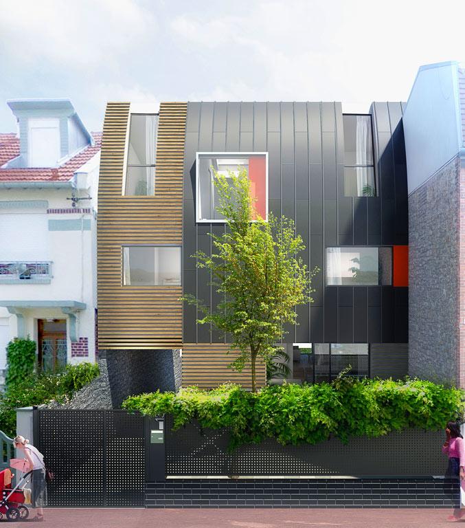 Maison De Ville Architecture Bois Magazine Maisons
