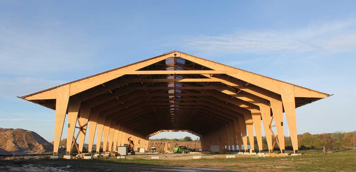 Du h tre pour abriter du miscanthus architecture bois - Architecture du bois ...