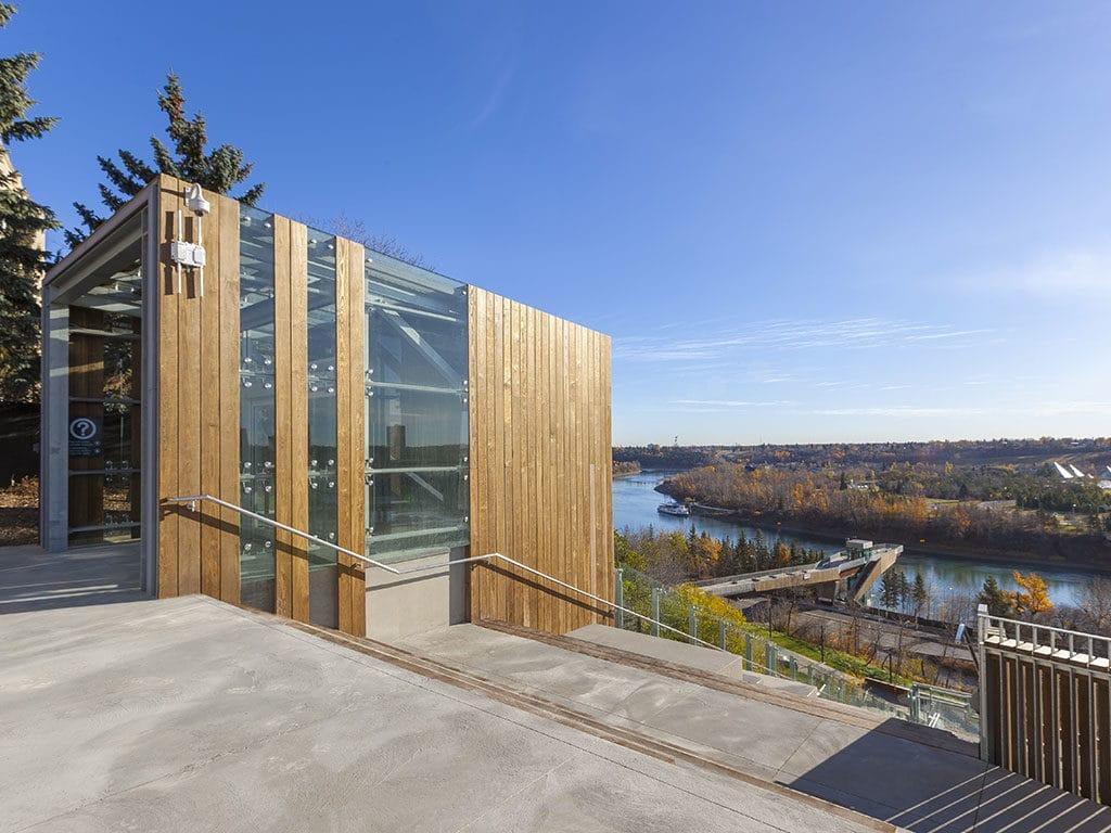 Le bois kebony au 1er funiculaire du canada architecture - Architecture du bois ...
