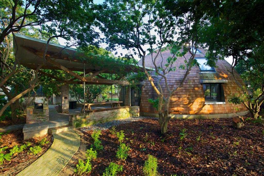 Reportage la maison dome architecture bois magazine maisons bois construction - Reportage construction maison ...