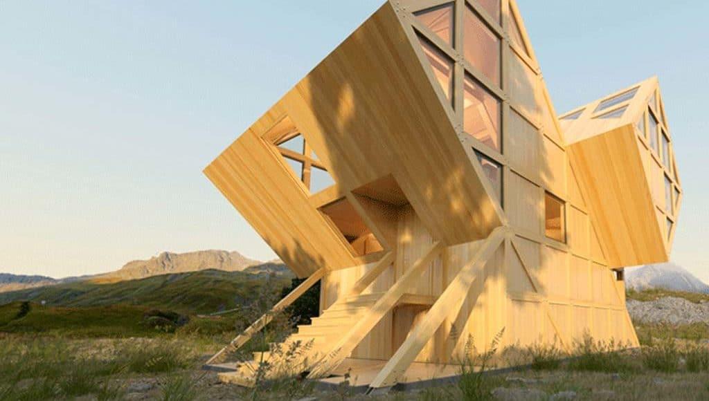 Reportage une maison asymetrique architecture bois magazine