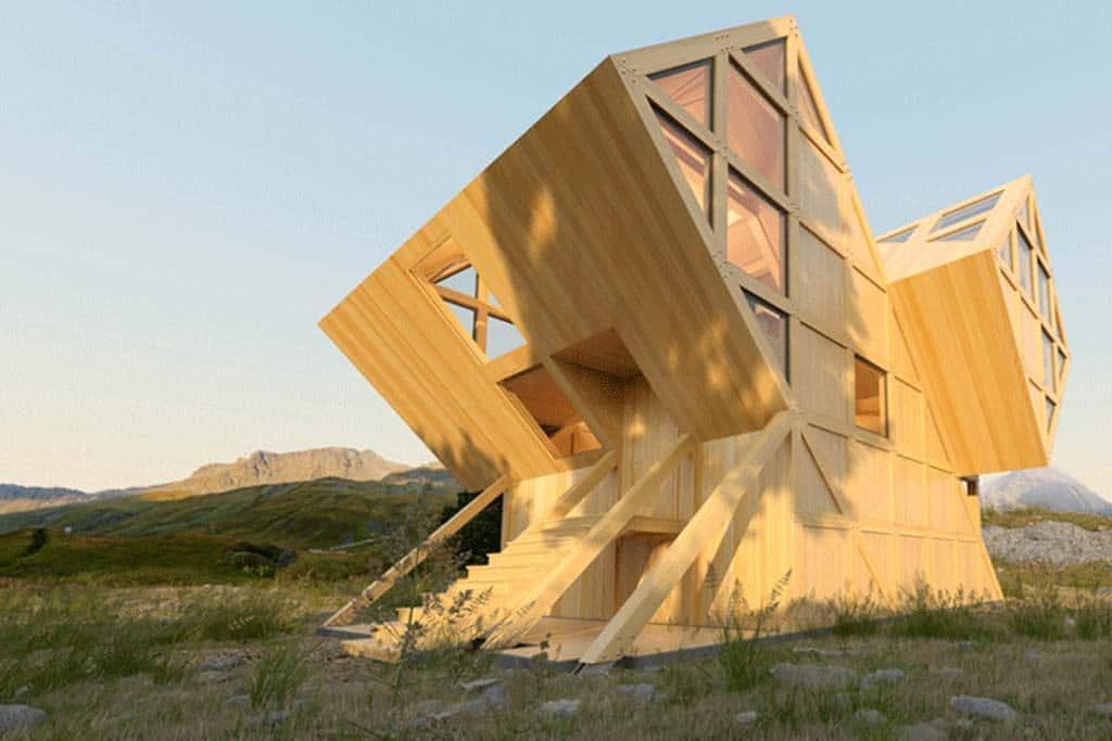 Architecturebois magazine valley house plan bureau architects archi