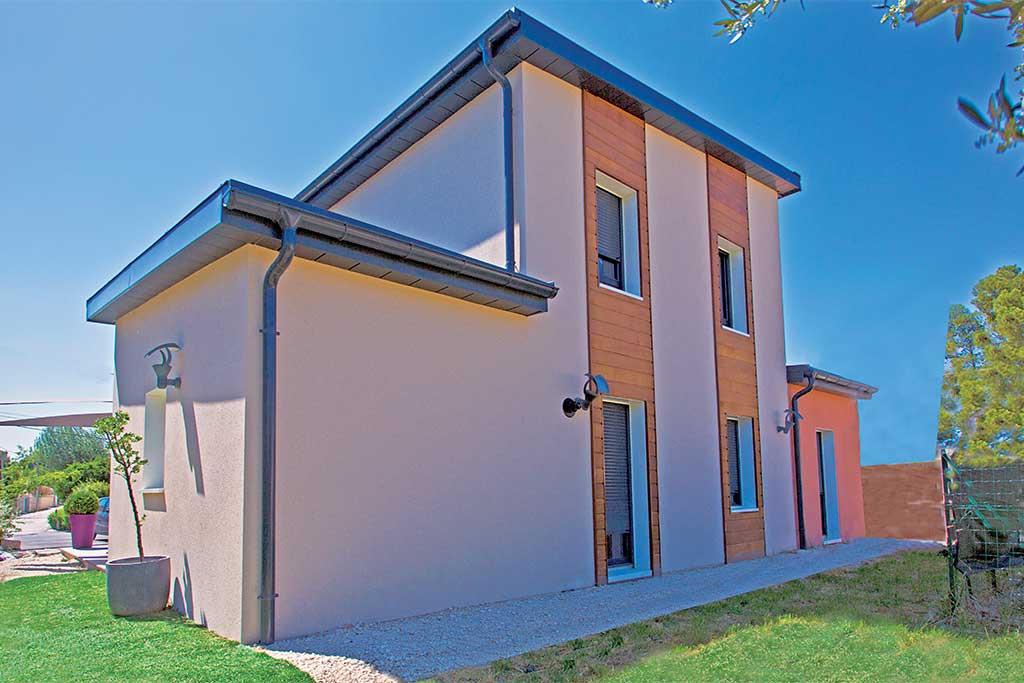 La voile grise architecture bois magazine maisons bois for Reportage construction maison