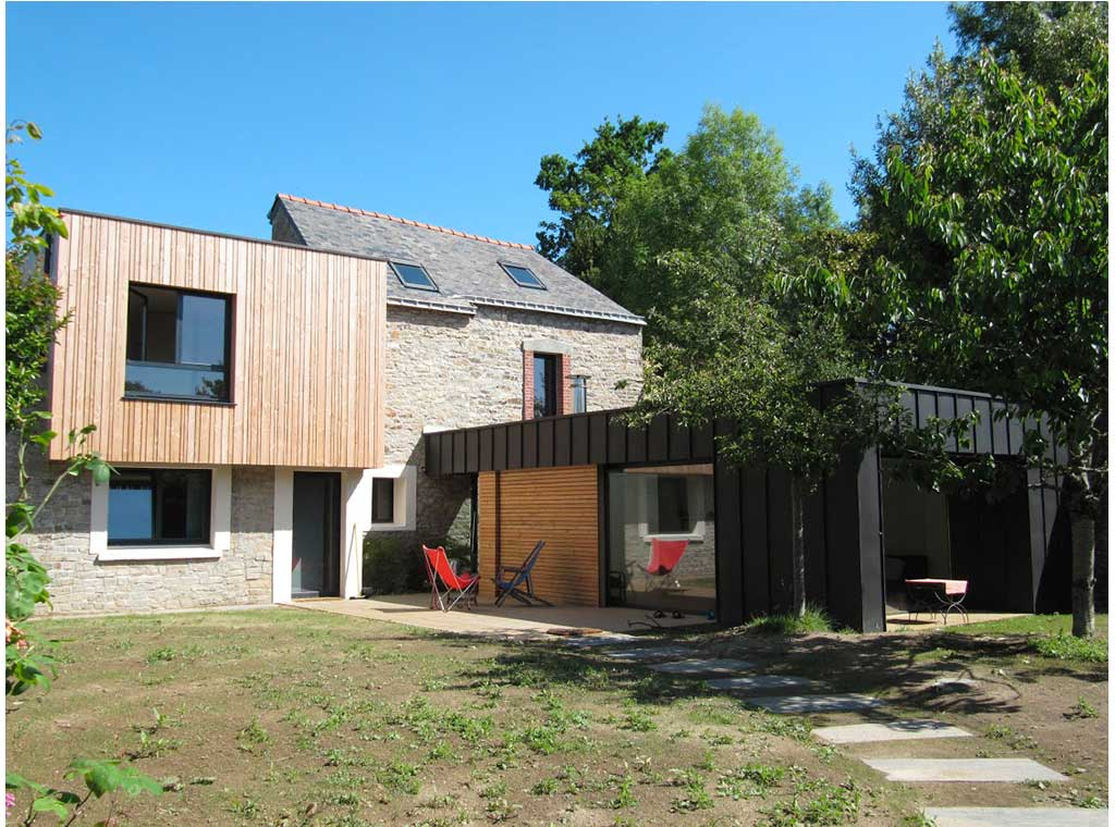 Extension vannes architecture bois magazine maisons for Construction maison en bois vannes
