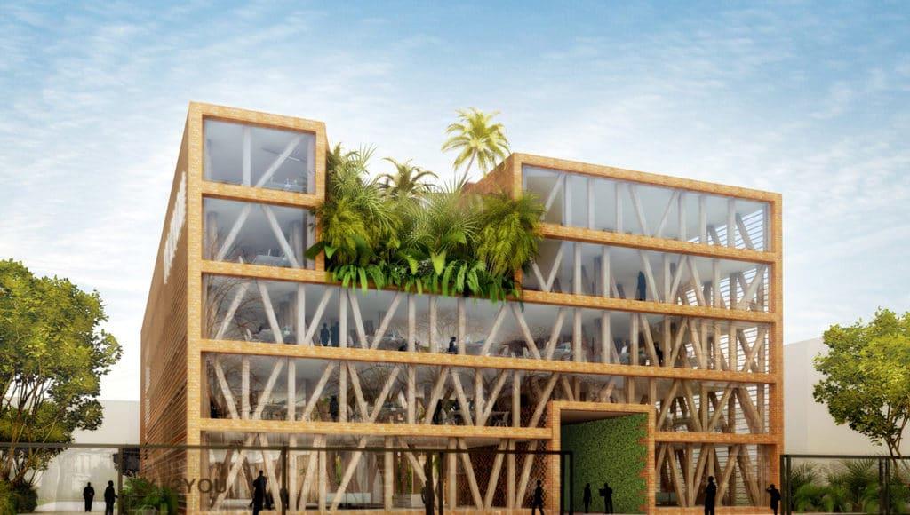 ph nom ne 10 000 m en bois et verre nergie positive architecture bois magazine maisons. Black Bedroom Furniture Sets. Home Design Ideas