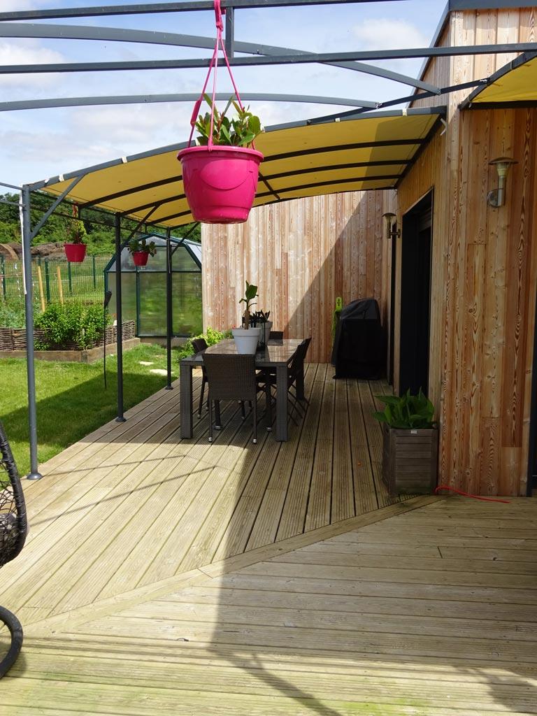 Maison individuelle en ossature bois dans un lotissement