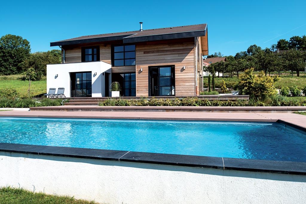 architecte exterieur maison cool blanc exterieur les intressant plan maison architecte d with. Black Bedroom Furniture Sets. Home Design Ideas