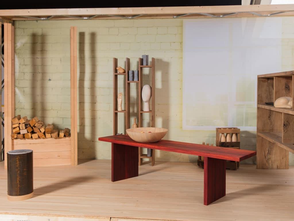 Objet design en bois