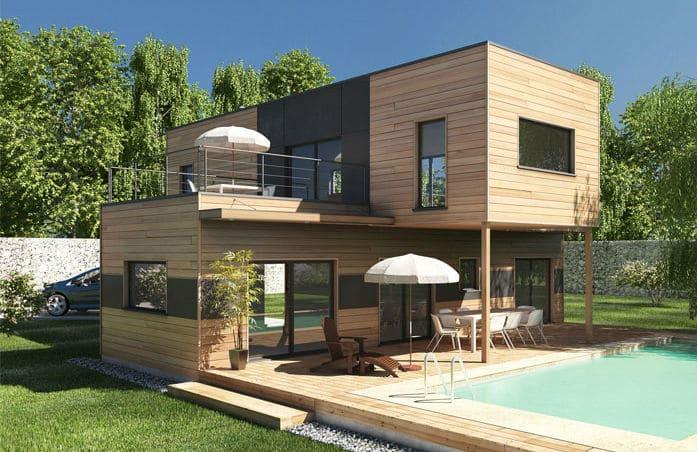 construction bois contemporaine