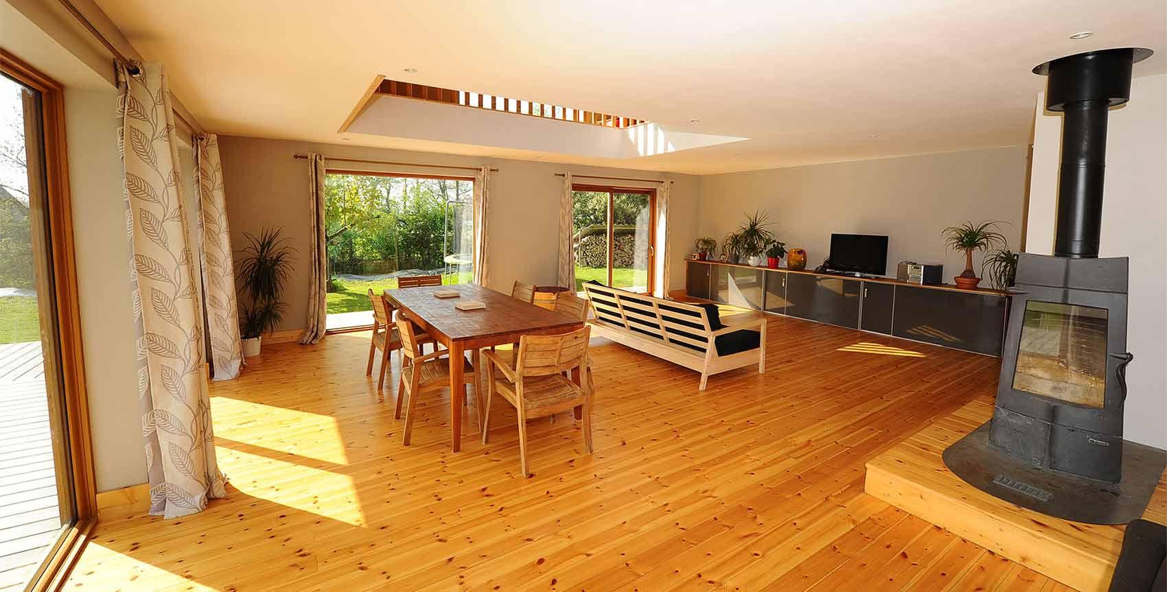interieur-maison-ossature-bois-tiro - Architecture Bois Magazine ...