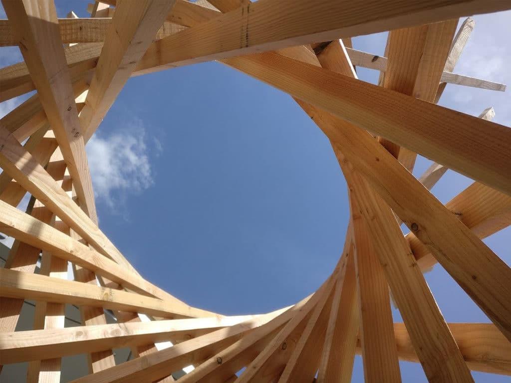 des totems bois pour le forum bois construction en avril dijon. Black Bedroom Furniture Sets. Home Design Ideas