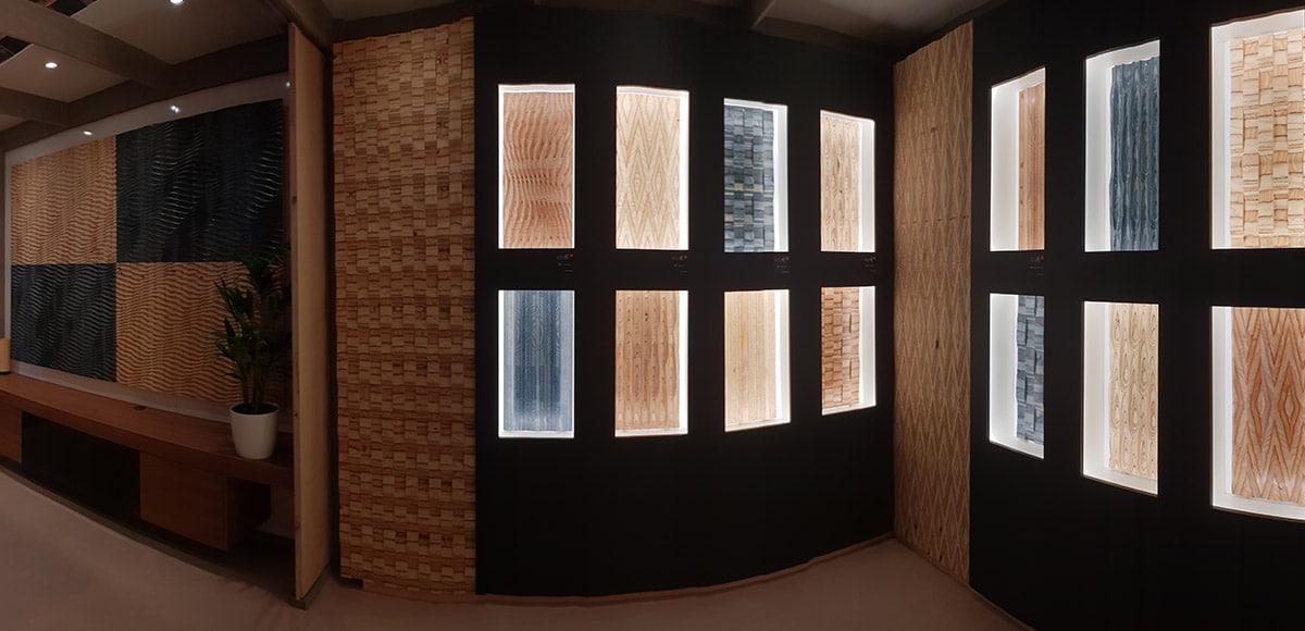 np rolpin pr sente sa gamme de panneaux d coratifs en bois yui. Black Bedroom Furniture Sets. Home Design Ideas