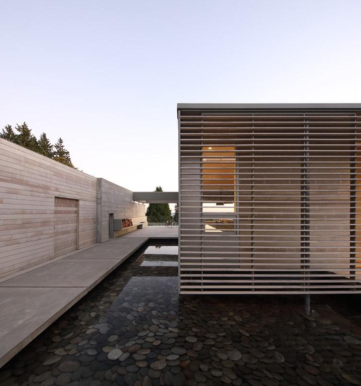 Maison bois vancouver nature