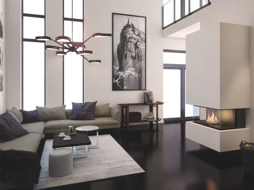 """Foyer modulaire Rüegg III à trois faces vitrées de la gamme """"Flex Line"""" © Rüegg"""