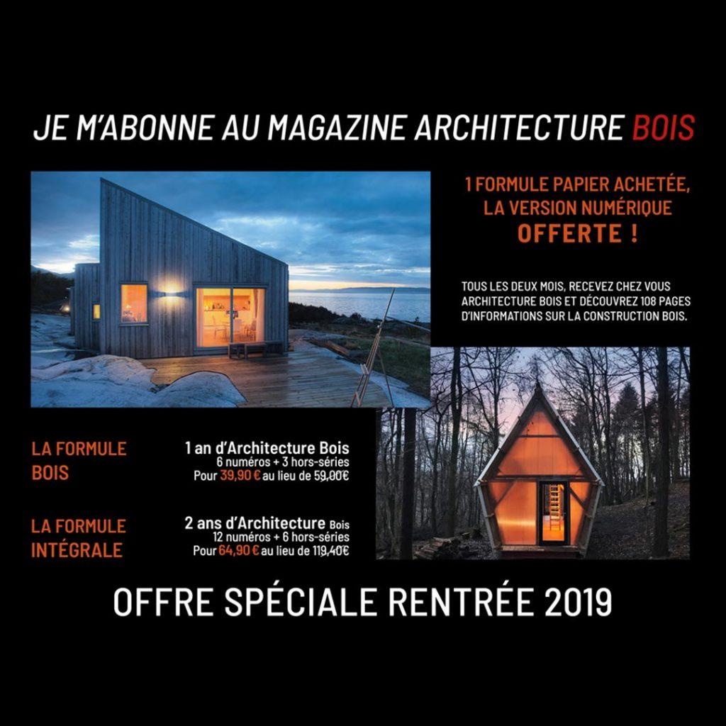 Offre rentrée 2019 Architecture Bois