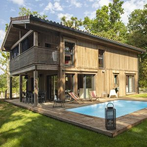 Maison bois en madriers Landes - Kontio