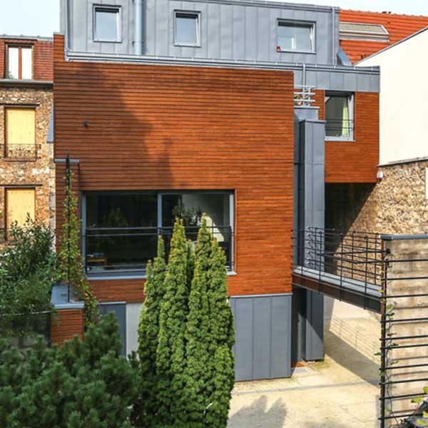 Extension à ossature sur une maison de ville - Boisphère