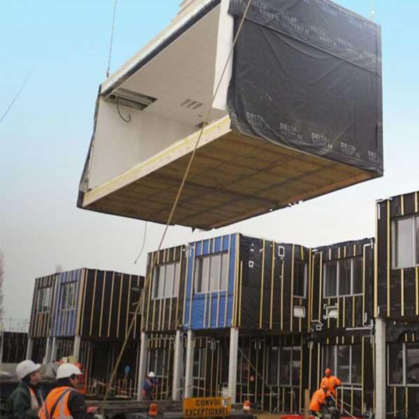 Covid-19 - modules en bois pour les hôpitaux