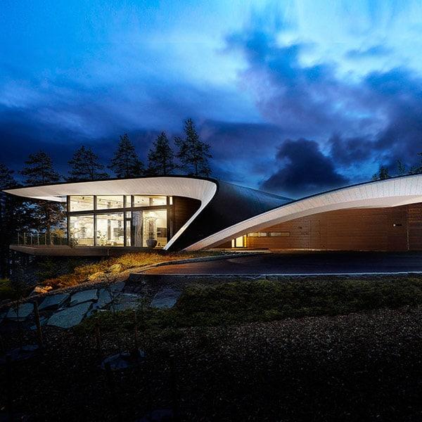 Maison en bois massif Wave - Polar Life Haus