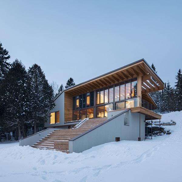 Maison bois l'Accostée - Bourgeois/Lechasseur Architects