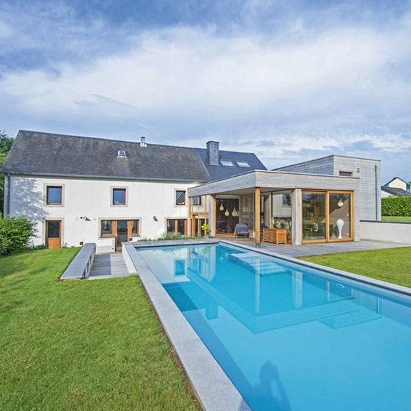 Extension ossature bois Belgique - Naturhome / Trema Architecture