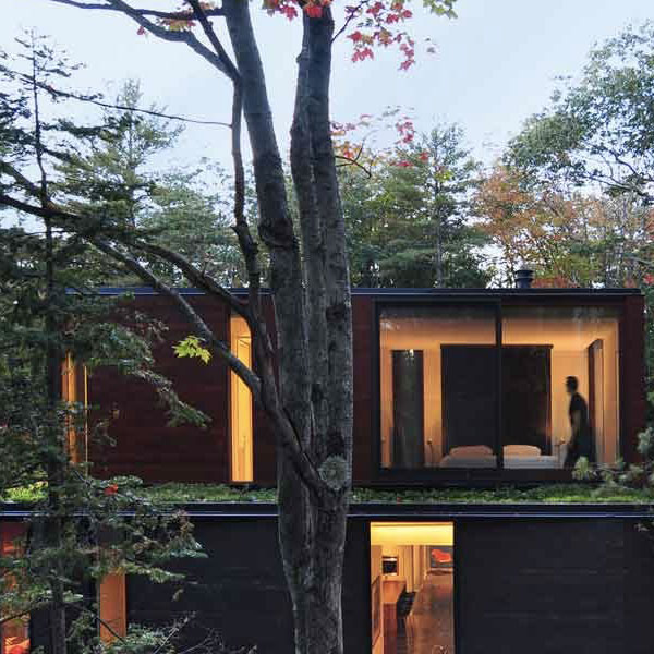 Maison en bois cubique - John Schmaling Architecte
