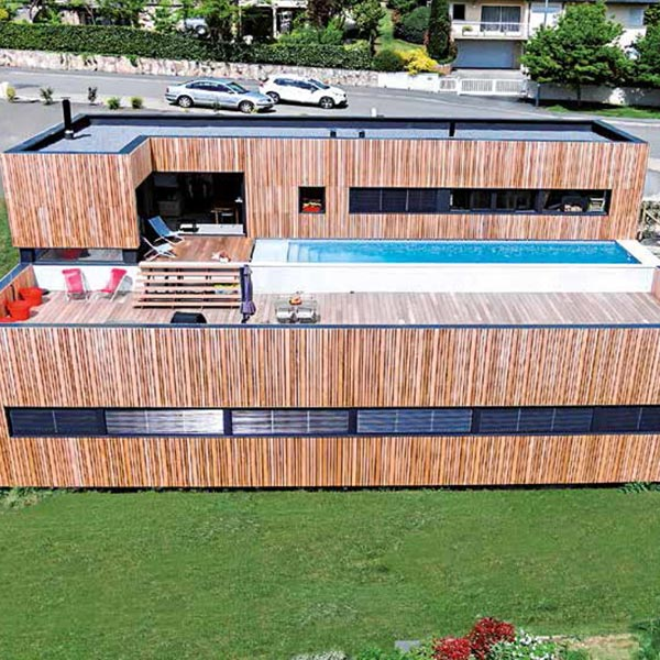Maison en ossature bois originale - Hugues Tournier
