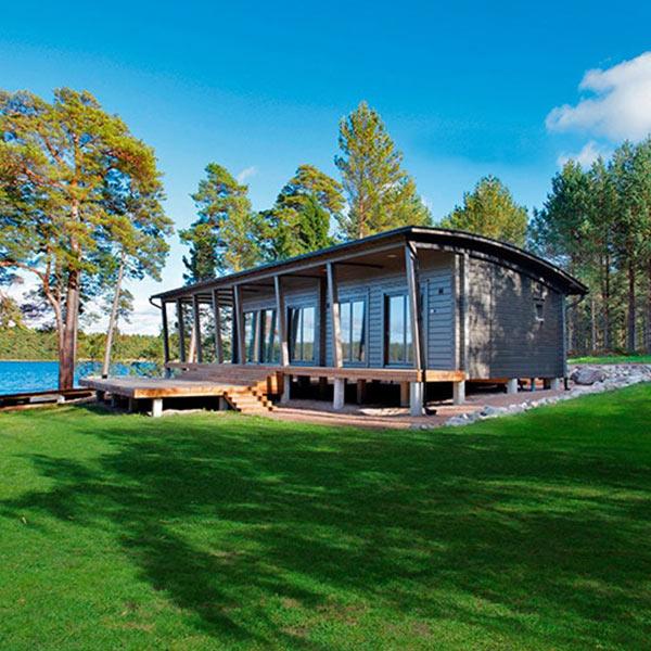 Maison-bois-scandinave - Kontio-bardage-prépeint