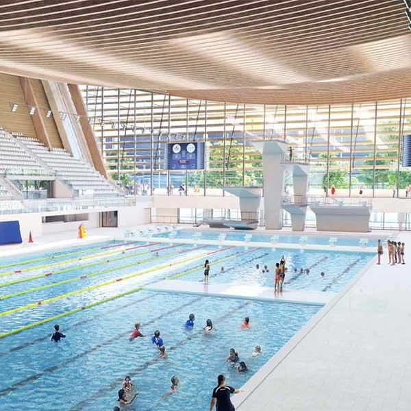 Centre aquatique olympique en bois