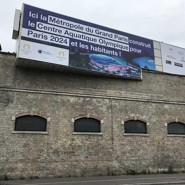 Centre Aquatique Olympique en bois - JO Paris 2024
