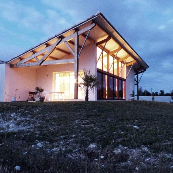 Maison en bois bioclimatique - Alexandre Prout