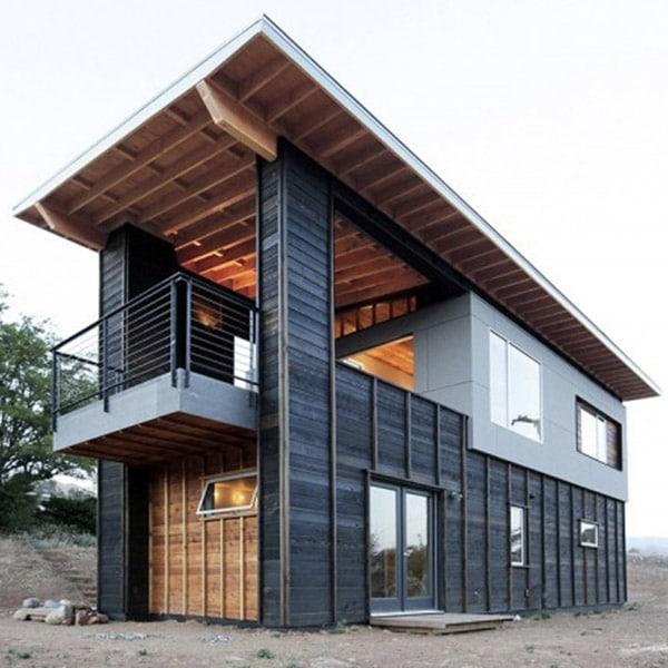 Maison bois luxueuse et moderne