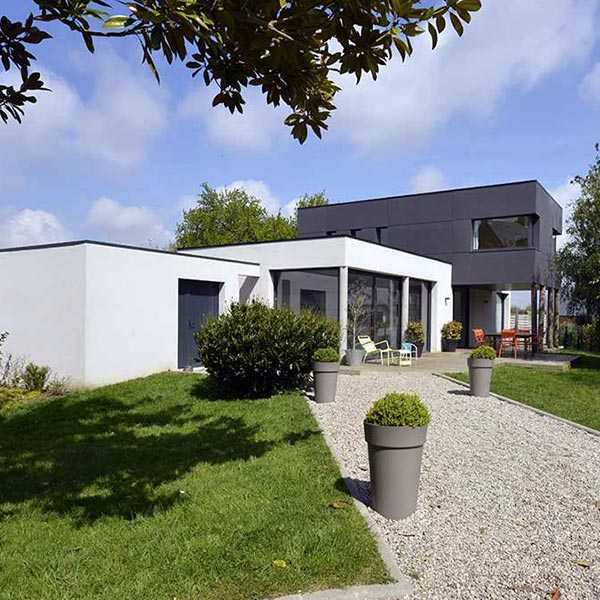 Maison bois/béton moderne - SCPA Darigaux