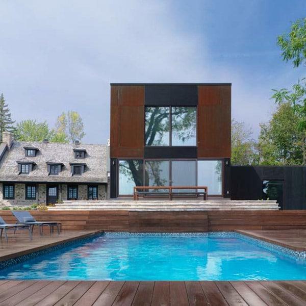 Extension à ossature bois - Henri Cleinge Architecture