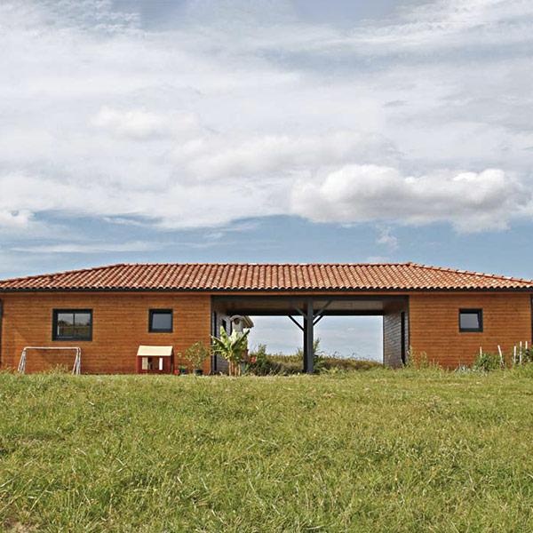 Maison bois poteaux-poutres - Cogébois