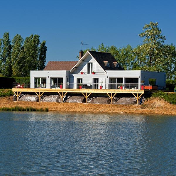 Maison et ses extensions en ossature bois - Le Drein Courgeon