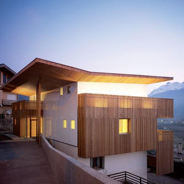 Maison bois familiale et moderne