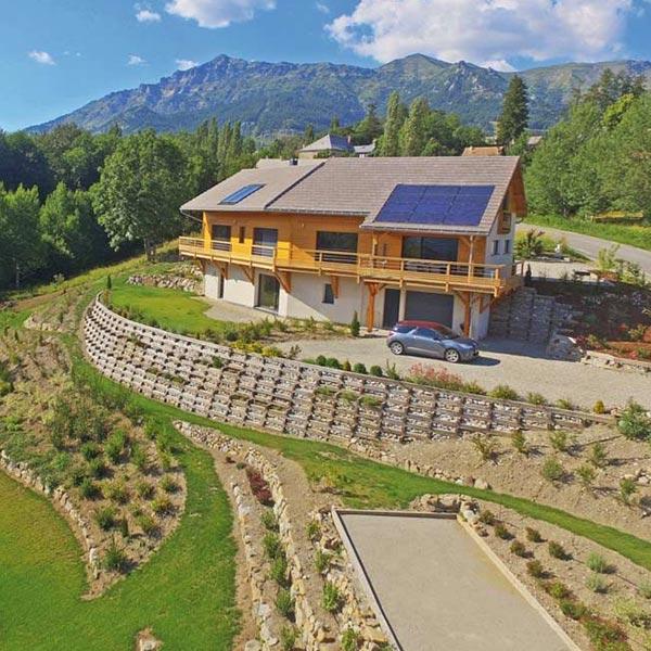 Maison écologique en ossature bois - Au chant du Riou