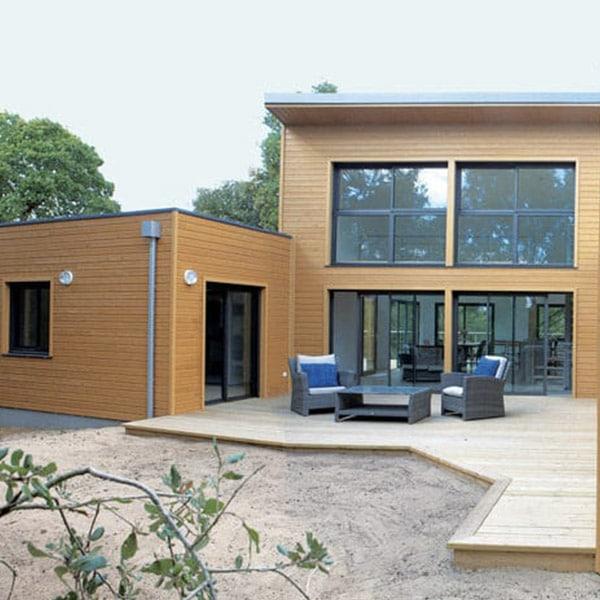 Maison en bois naturel - Arcadial