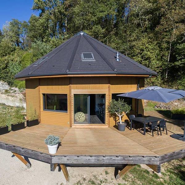 Maison en bois ronde - La Maison de Cèdre