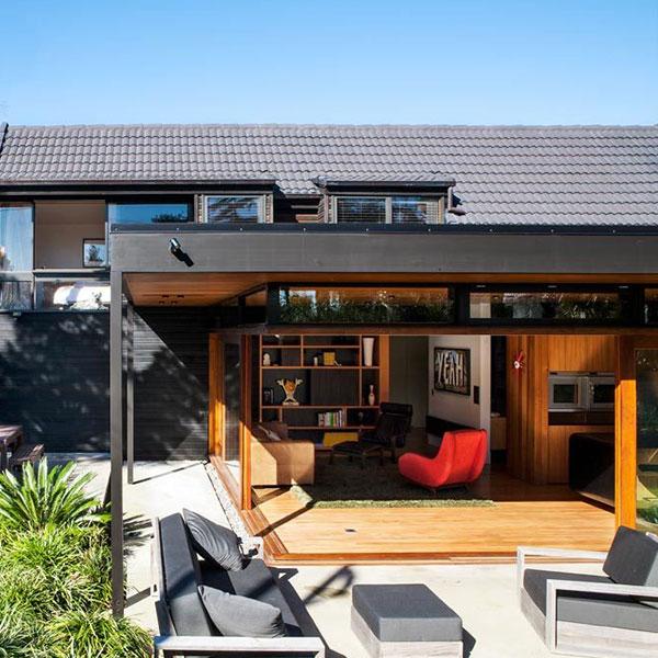 Maison et extension en Cèdre Auckland - DAA